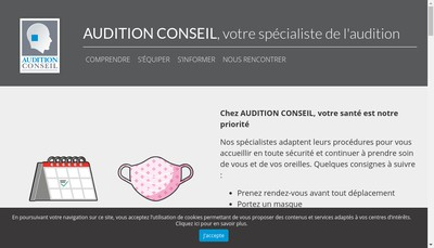 Site internet de Audition Conseil