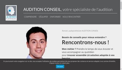 Site internet de Audition Conseil