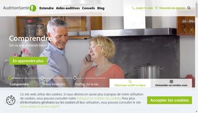 Site internet de Sonova Audiological Care France SAS
