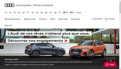 Site internet de Sterling Automobiles