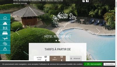 Site internet de Le Faisan Dore