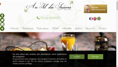 Site internet de Au Fil des Saisons