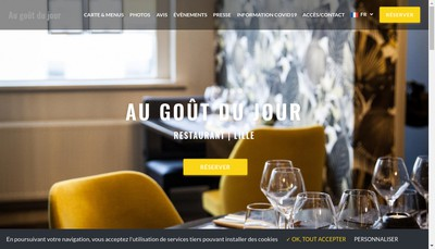 Site internet de Au Gout du Jour