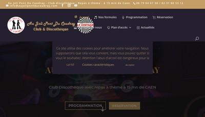 Site internet de Au Joli Pont du Coudray