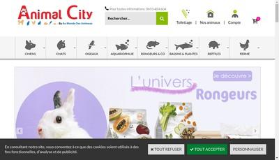 Site internet de Au Monde des Animaux