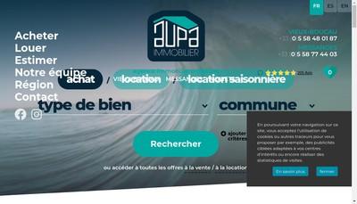 Site internet de Agence du Littoral