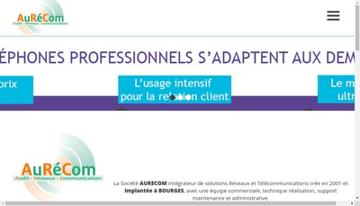 Site internet de Audit Reseaux Communication