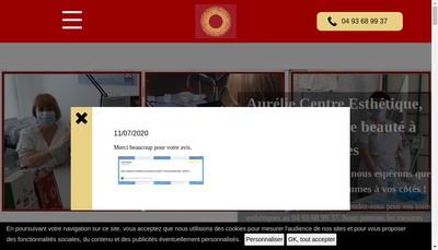 Site internet de Aurelie - Centre d'Esthetique et Remise en Forme