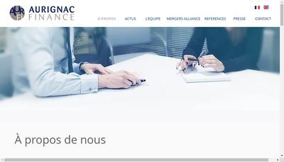 Site internet de Aurignac Finance