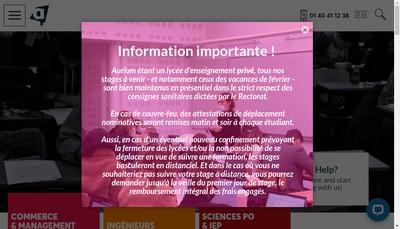 Site internet de Aurlom Prepa