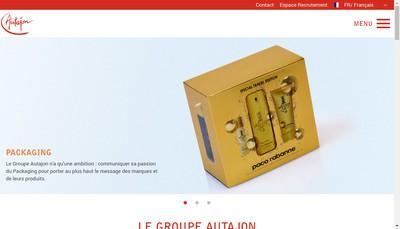 Site internet de Autajon Packaging Montelimar Cs