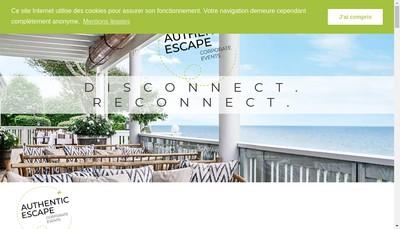 Site internet de Authentic Escape
