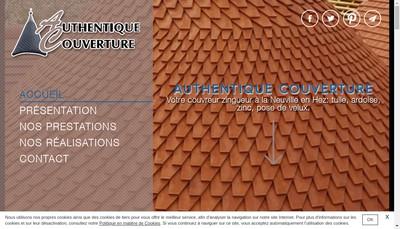 Site internet de Authentique Couverture