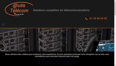Site internet de Abcis Telecom Actis