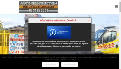 Site internet de Auto-Destruction