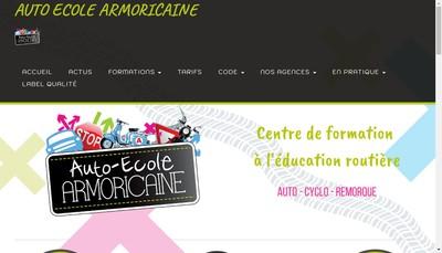 Site internet de Auto Ecole Armoricaine