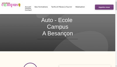 Site internet de Auto-Ecole Campus