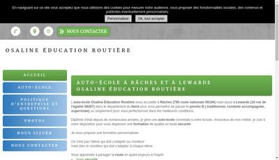 Site internet de Osaline Education Routiere
