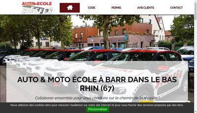 Site internet de Auto Ecole Sieffer