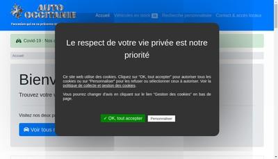 Site internet de Auto Occitanie