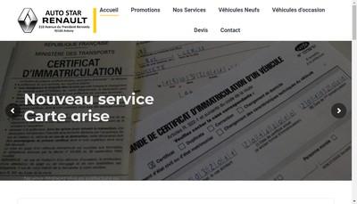 Site internet de Auto Star
