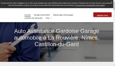 Site internet de Auto Assistance Gardoise