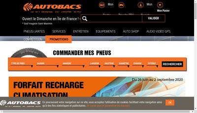 Site internet de Autobac Saint Brice