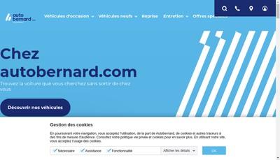 Site internet de Auto Bernard Franche-Comte
