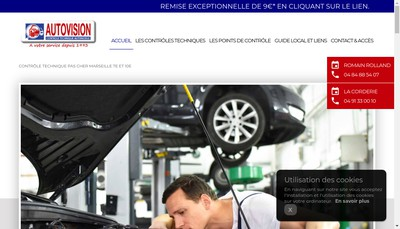 Site internet de Autovision Autobilan SARL