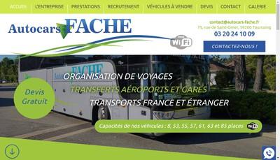 Site internet de Autocars Fache