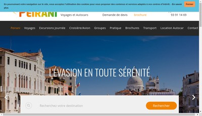 Site internet de Autocars Peirani