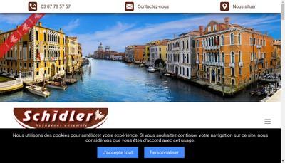 Site internet de Autocars Schidler