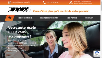 Site internet de Centr'Europe de Formation Routiere