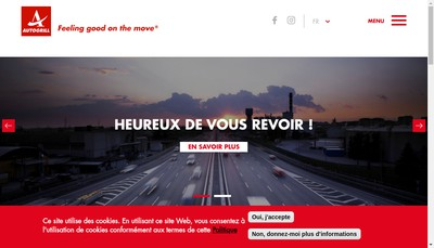 Site internet de Autogrill Cote France