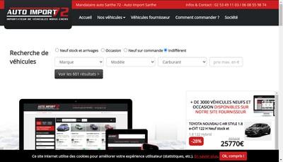 Site internet de Auto Import 72