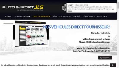 Site internet de EURL Auto-Import-Jls