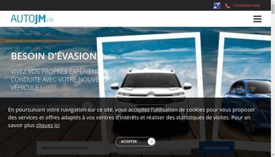 Site internet de Auto Jm Jm Auto