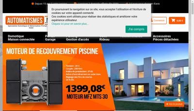 Site internet de Automatismes Securite Protection 06