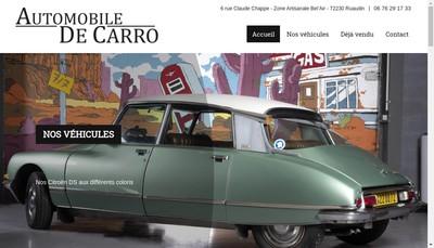 Site internet de Financiere Decarro