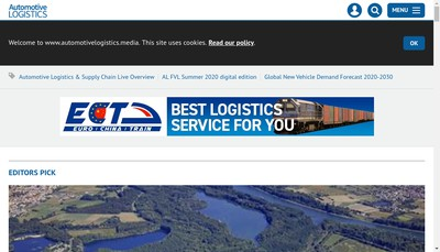 Site internet de Global Automotive Logistics