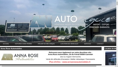Site internet de Anna Rose Automobiles