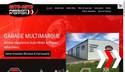 Site internet de Auto Moto Passion Fronton Ampf
