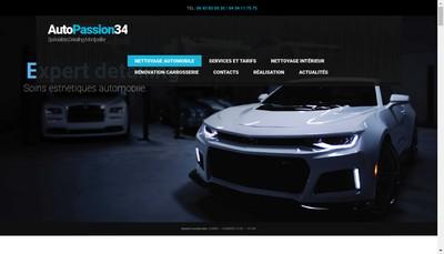Site internet de Autopassion 34