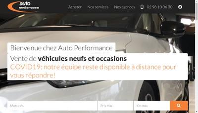 Site internet de Auto Performance Paris