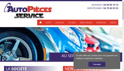 Site internet de Auto Piece Services