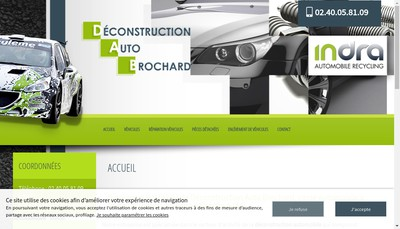 Site internet de Deconstruction Auto Brochard