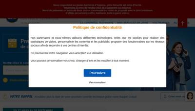 Site internet de Centre Auto Securite