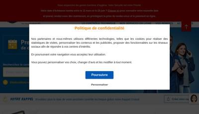 Site internet de Auto Securite