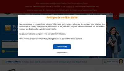 Site internet de Auto Controle Securite