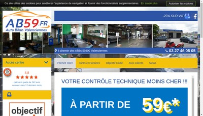 Site internet de Auto Bilan 59